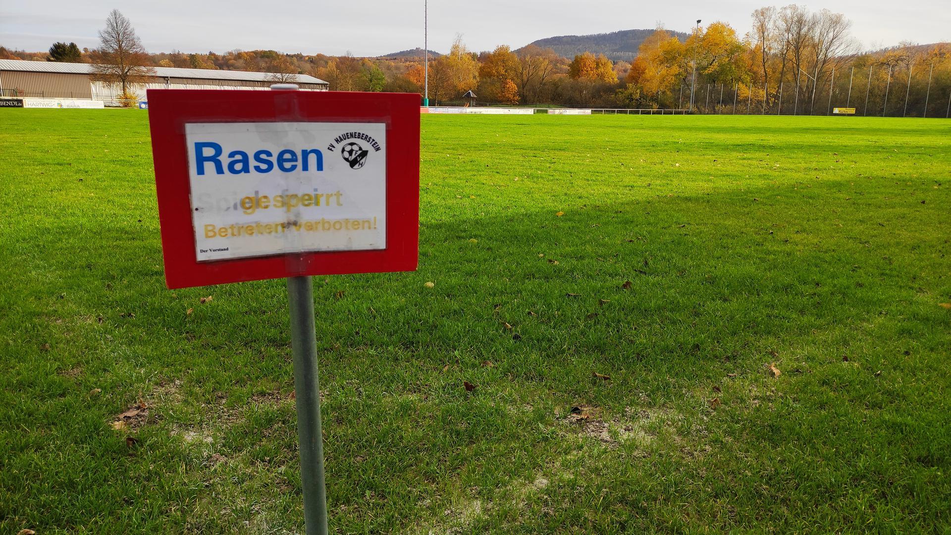Sportplatz Haueneberstein im Winter 2020/21