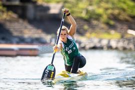 Gut in Fahrt: Rheinbrüder-Canadierfahrerin Sophie Koch hat ihre Olympia-Ambitionen bei der ersten nationalen Qualifikation unterstrichen.