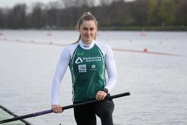 Olympia kann kommen: Sophie Koch von den Rheinbrüdern Karlsruhe wird in Tokio im deutschen Canadier-Zweier sitzen.