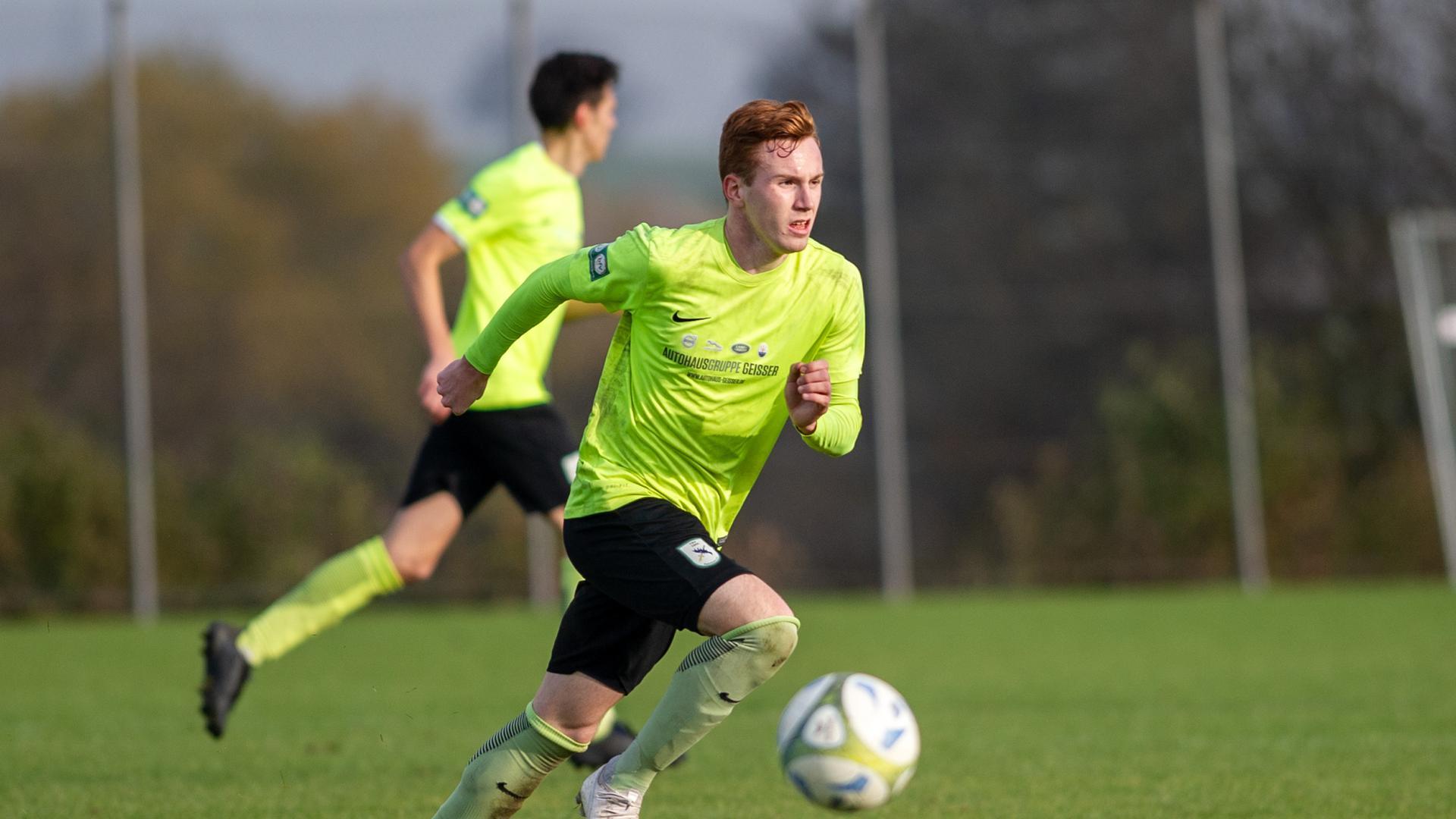 David Pruetting (Palmbach)  GES/ Fussball/ SV Langensteinbach 2 - TSV Palmbach. 24.11.2019