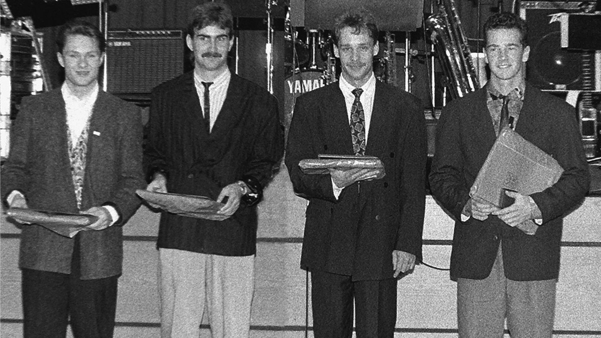 Dirk Hartmann, Helmut Gleichauf, Bernhard Malzacher, Rolf Kistner