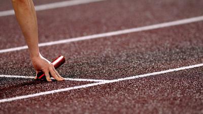 Staffelläufer beim Start