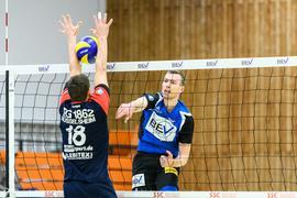 Schlüpft wieder ins SSC-Trikot: Benjamin Loritz, der zuletzt für die TSG Blankenloch spielte, kehrt zumindest bis Saisonende zurück zu den Baden Volleys.