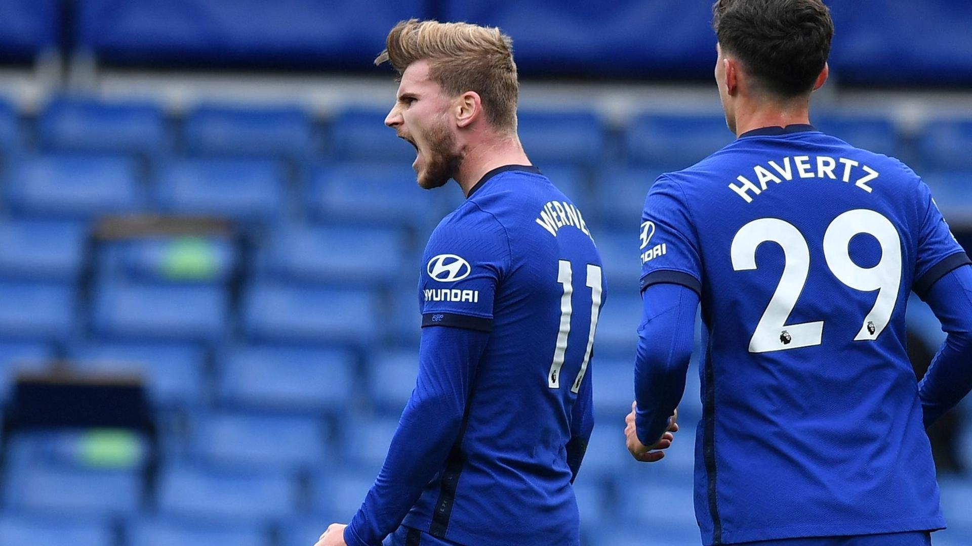 Auch zwei Tore von Timo Werner (l) und ein Havertz-Treffer reichten Chelsea gegen Southampton nicht zum Sieg.