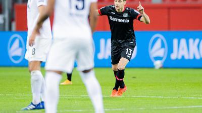 Lucas Alario war mit zwei Toren Leverkusens Matchwinner beim Sieg gegen Augsburg.