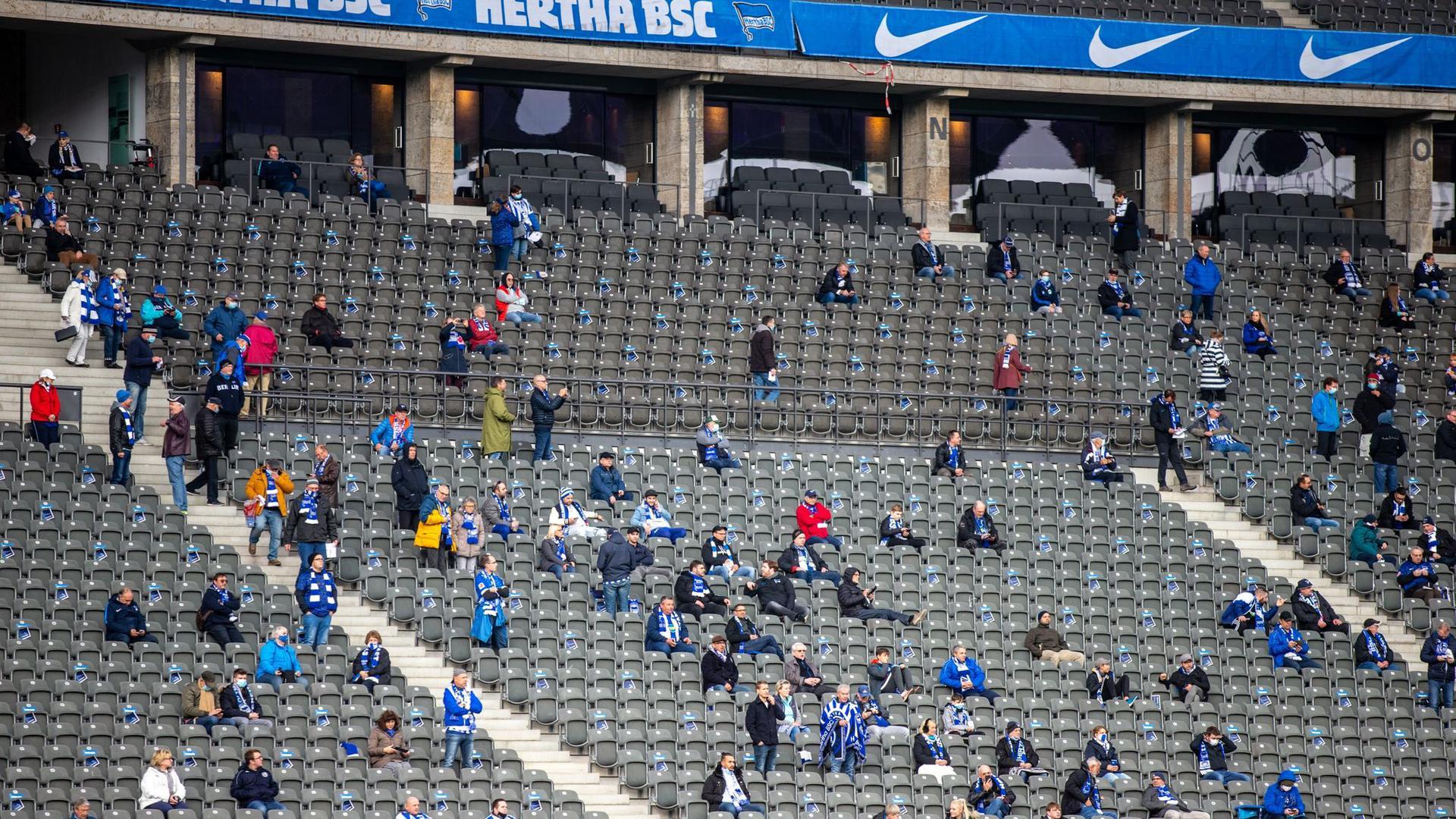Hertha BSC wird vorerst keine Zuschauer einplanen können.