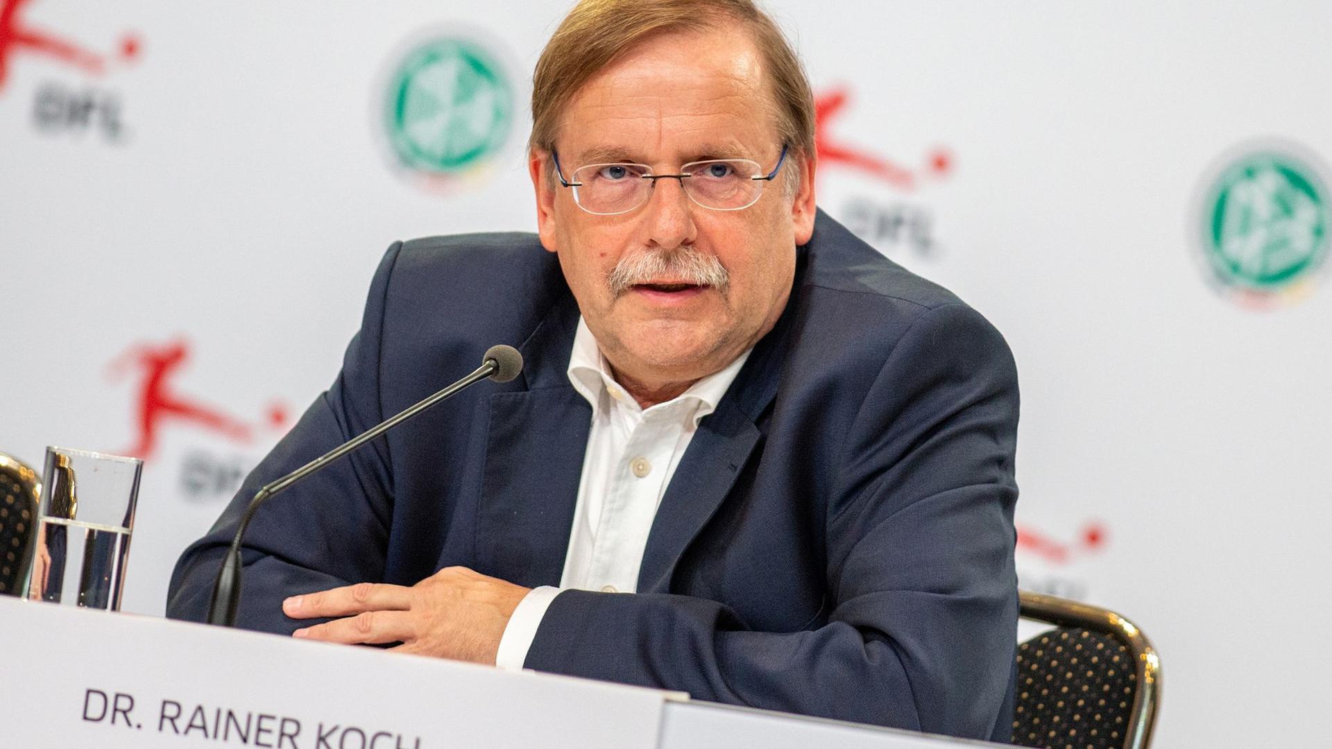 Hat Verständnis für die neuen Corona-Maßnehmen: DFB-Vize Rainer Koch.