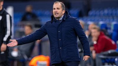 Hat mit Schalke Undog Schweinfurt zu Gast: Trainer Manuel Baum.