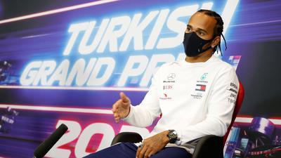 Lewis Hamilton war von der rutschigen Strecke in Istanbul überrascht.