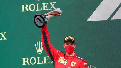 Durfte sich in Istanbul endlich wieder über eine Podiumsplatzierung freuen: Sebastian Vettel.