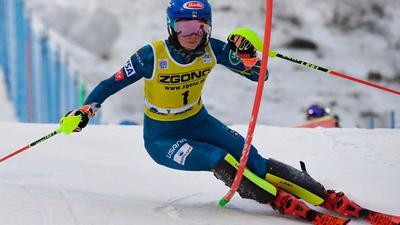 Zweite beim Slalom in Levi: Mikaela Shiffrin.