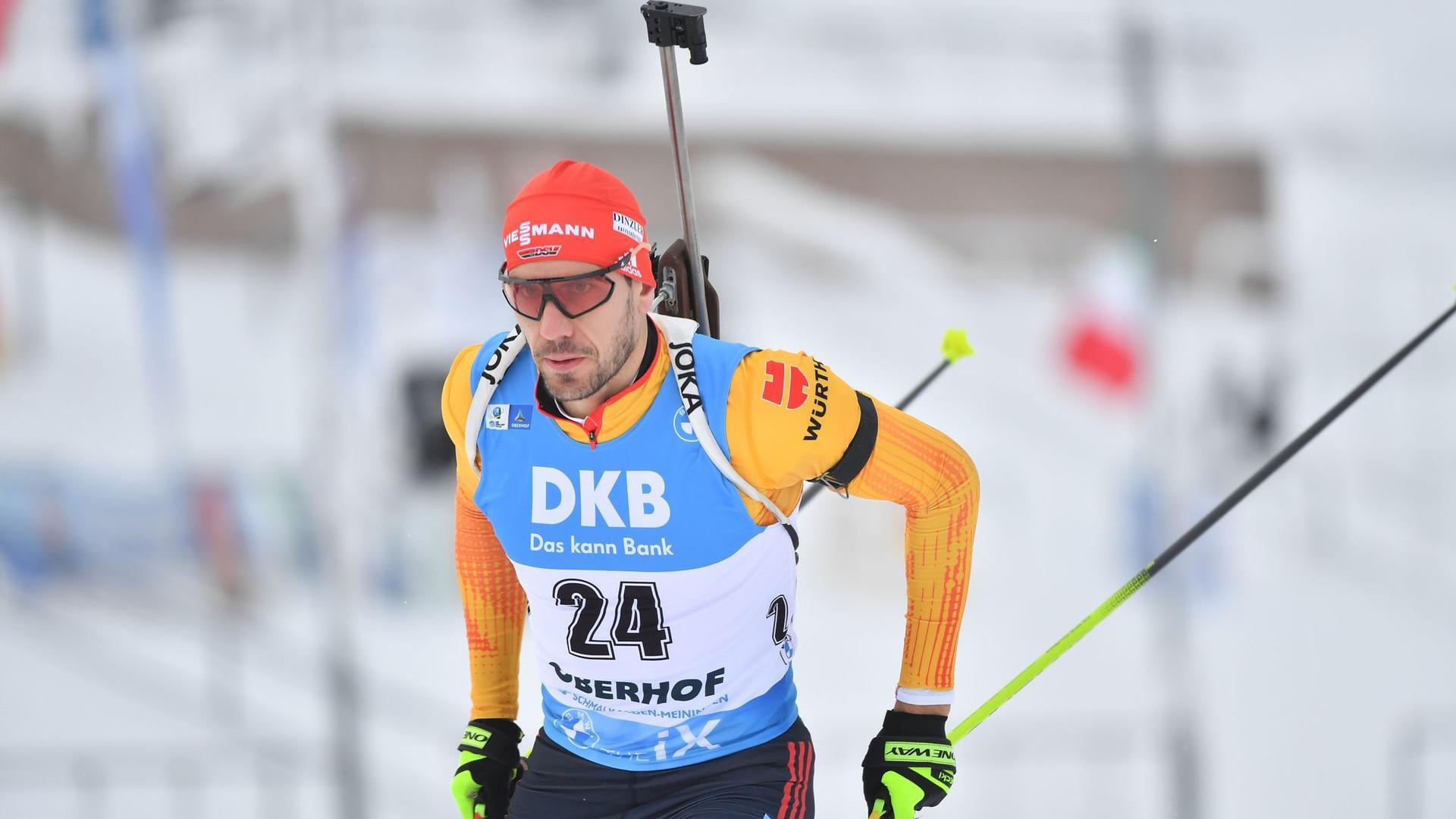 Arnd Peiffer sprintete in Oberhof auf Platz drei.