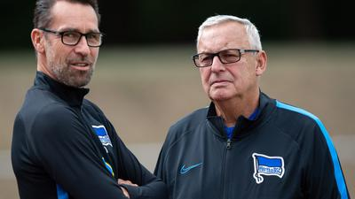 Geraten bei Hertha immer mehr unter Druck: Manager Michael Preetz (l) und Präsident Werner Gegenbauer.