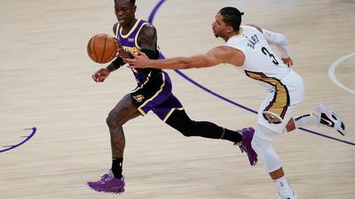 Dennis Schröder blieb beim Sieg der Lakers unauffällig.