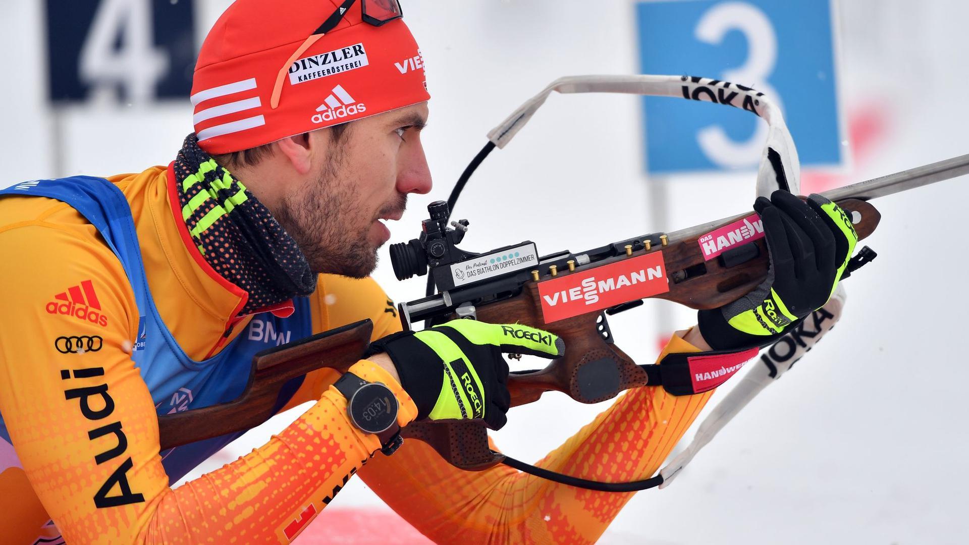 Bester Deutscher über 20 Kilometer in Antholz:Arnd Peiffer.