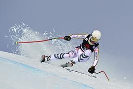 Will in Crans-Montana wieder in die Top Fünf fahren: Kira Weidle in Aktion.