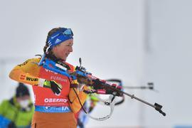 Verpasste beim Massenstart in Antholz nur knapp das Podium: Franziska Preuß.