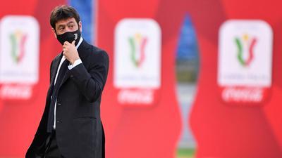 Juve-Boss Andrea Agnelli befürchtet bis zu 8,5 Milliarden Euro Verlust für Europas Fußball.