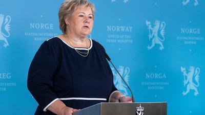 Norwegens Regierungschefin Erna Solberg hat strenge Einreisebeschränkungen verkündet.
