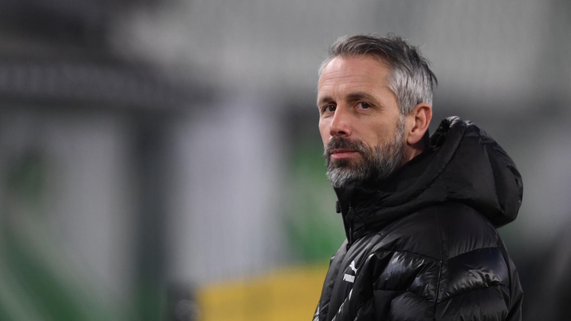 Gladbachs Noch-Trainer Marco Rose steht gegen Manchester City im Fokus.