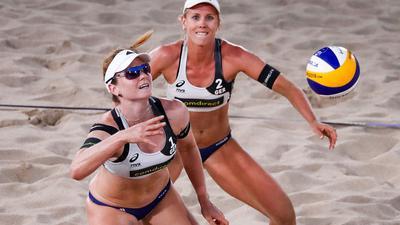 Karla Borger (r) und Julia Sude hatten auf einen Start in Katar verzichtet.