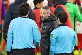 War nach Gladbachs Niederlage in Leipzig sichtlich angefressen: Borussia-Coach Marco Rose.