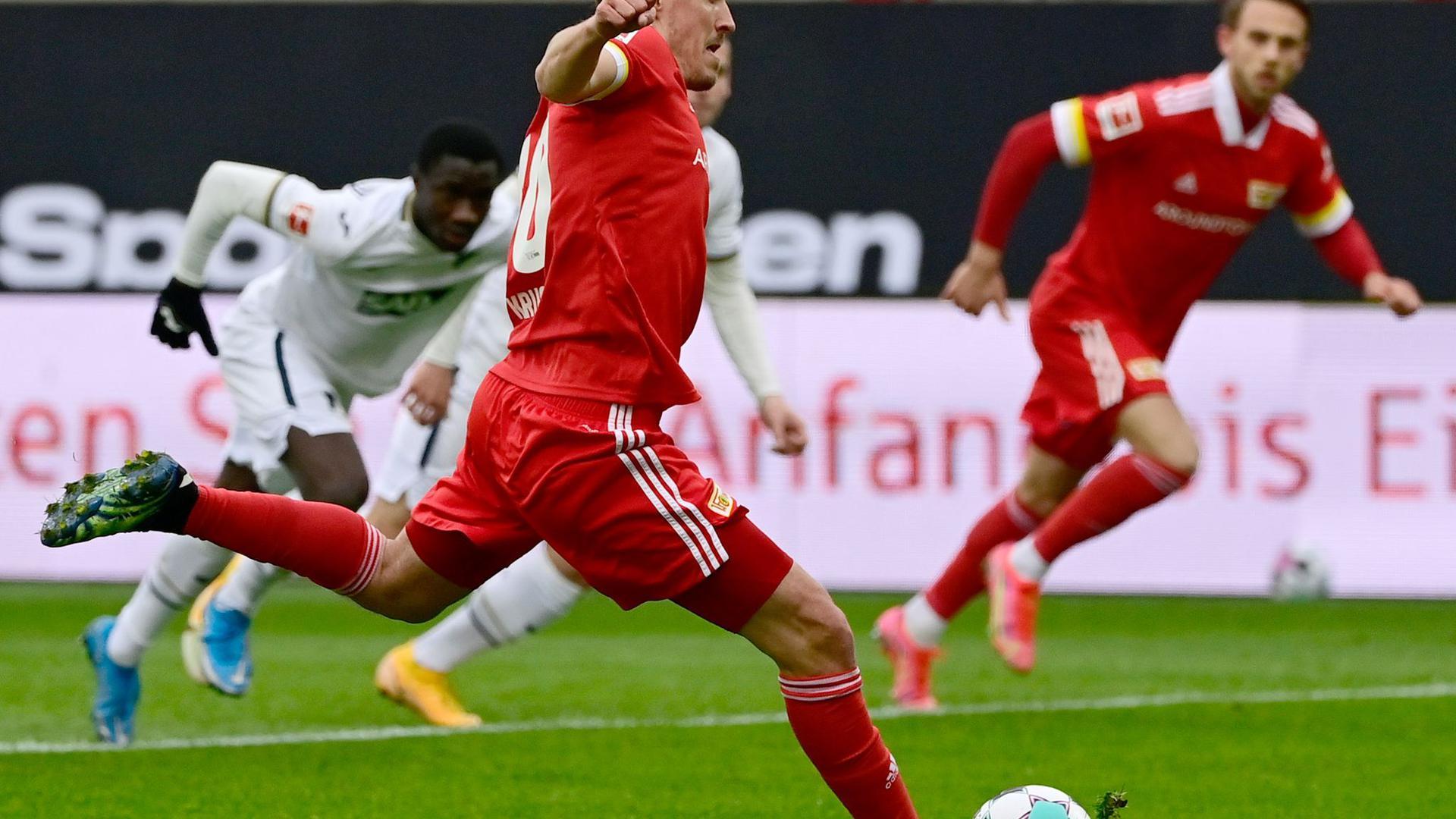 Brachte Union Berlin gegen Hoffenheim vom Punkt in Führung: Max Kruse.