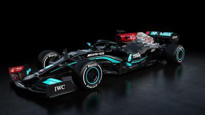 Das neue Auto von Weltmeister Lewis Hamilton und Teamkollege Valtteri Bottas: Der Mercedes-AMG F1 W12 E.