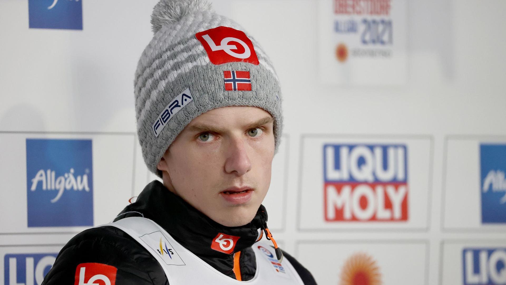 Wurde positiv auf Corona getestet: Skisprungstar Halvor Egner Granerud.