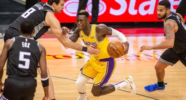 Konnte trotz einer überzeugenden Leistung die Lakers-Niederlage gegen die Sacramento Kings nicht verhindern: Dennis Schröder.