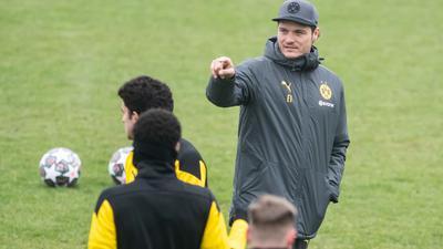 BVB-Trainer Edin Terzic bereitet sein Team auf das Rückspiel gegen den FCSevilla vor.