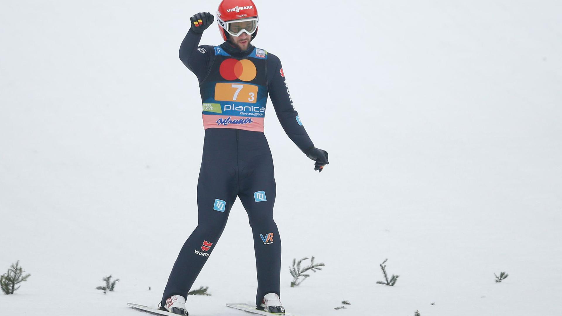 Siegte mit Deutschlands Skisprung-Assen in Planica: Markus Eisenbichler.