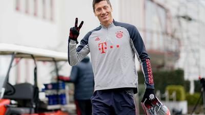 Hat bei Bayern wieder das Training aufgenommen:Robert Lewandowski.