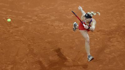 Kerber musste sich der Lettin Jelena Ostapenko im Achtelfinale mit 6:4, 3:6, 4:6 geschlagen geben.