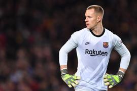 Barcelonas Torwart Marc-André ter Stegen wird bei der EM nicht für Deutschland spielen können.