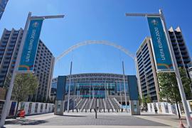Für das EM-Finale im Wembley-Stadion werden 40.000 Zuschauer zugelassen.