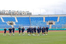 Das russiche Team steht nach dem 0:3 zum EM-Auftakt gehörig unter Druck.