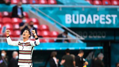 Portugals Cristiano Ronaldo jubelt über seinen Treffer zum 0:3.