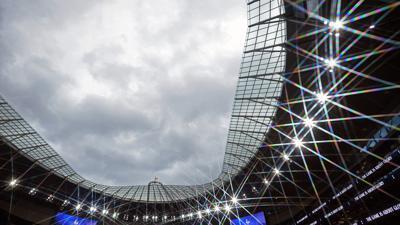Finalort der Fußball-EM 2021: Das Wembley-Stadion in London.