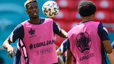 Die Franzosen um Paul Pogba (l) wollen auch gegen Ungarn gewinnen.
