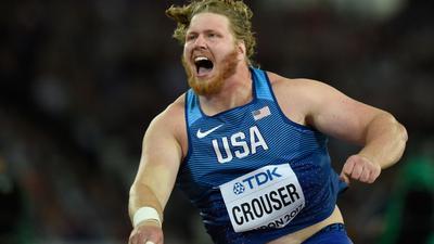 Weltrekordhalter im Kugelstoßen: Ryan Crouser.