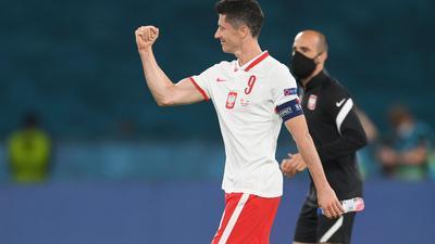 Sicherte Polen einen Punkt gegen Spanien: Robert Lewandowski.