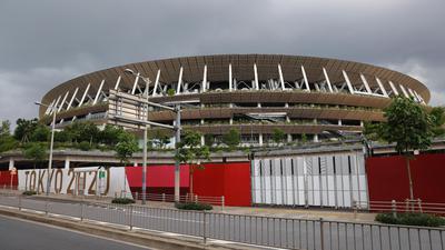 Austragungsort der Eröffnungsfeier der Olympischen Spiele: Das Nationalstadion in Tokio.