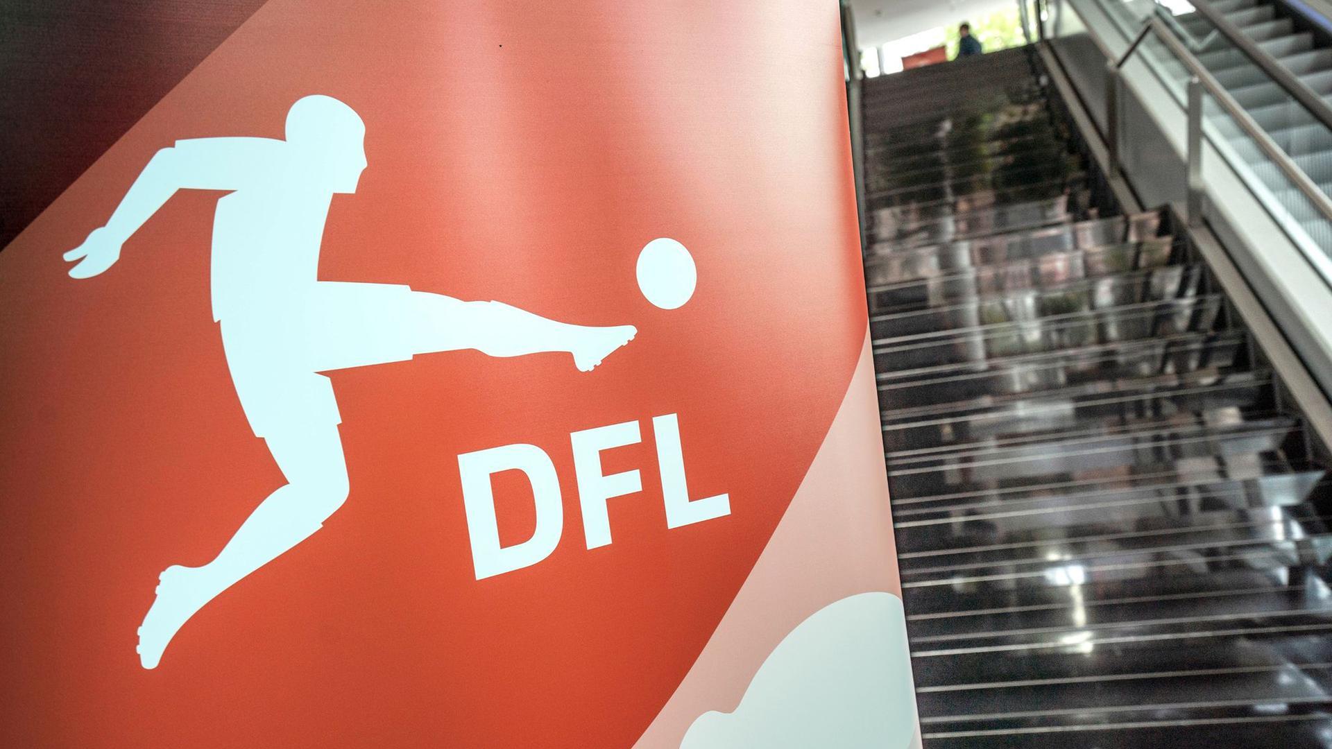 Das Logo Deutschen Fußball Liga.
