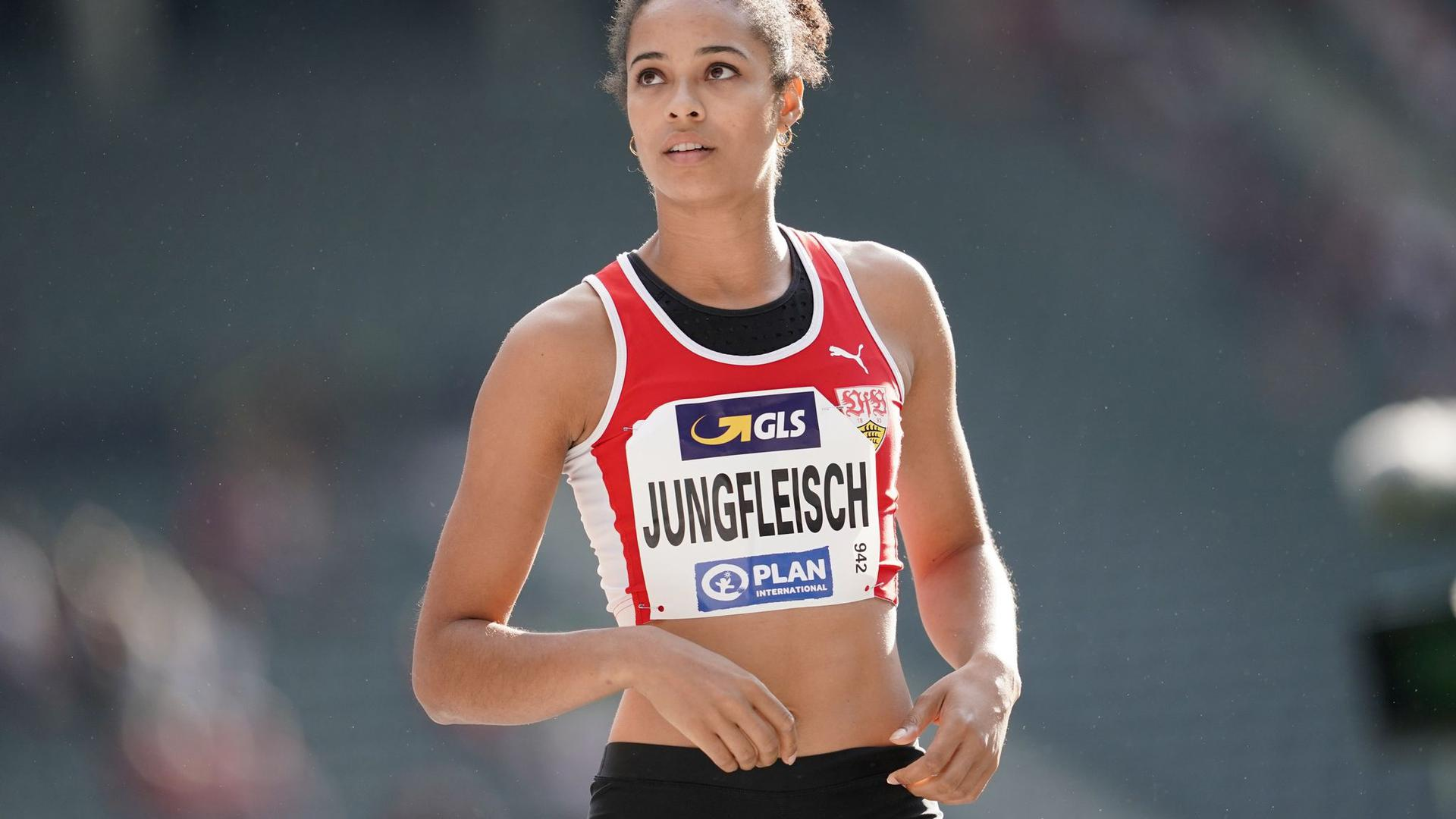 Marie-Laurence Jungfleisch, deutsche Hochspringerin.