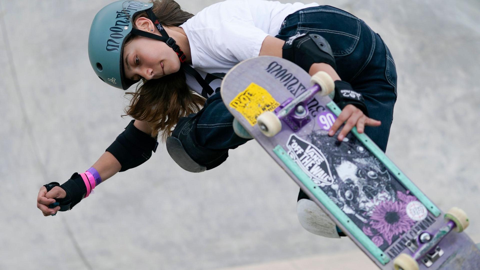 Ist die jüngste deutsche Olympia-Teilnehmerin: Skateboarderin Lilly Stoephasius.