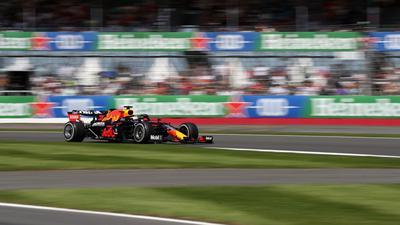 Max Verstappen geht in Silverstone von der Pole ins Rennen.