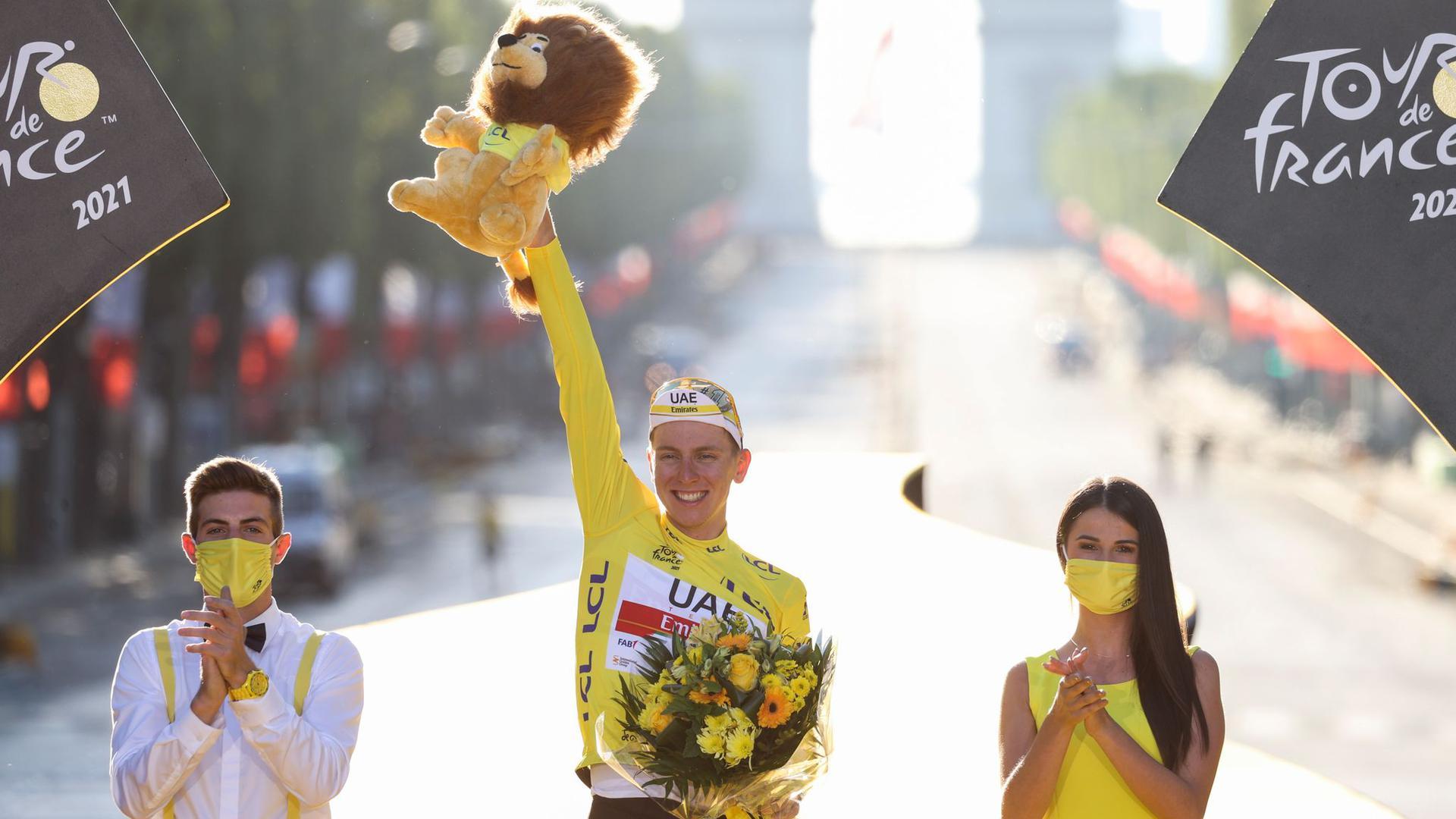 Ließ der Konkurrenz bei der diesjährigen Tour kaum eine Chance: Tadej Pogacar.