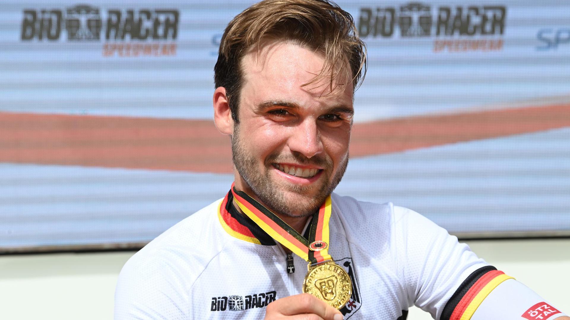 Deutscher Meister: Maximilian Schachmann hofft bei den Spielen in Tokio auf seine Medaillenchance.