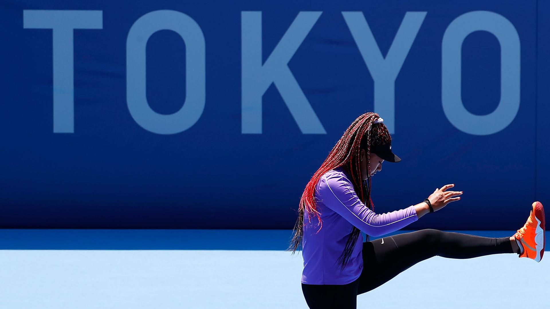 Steht in Tokio besonders im Fokus: Tennis-Star Naomi Osaka.